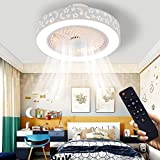LCiWZ Ceiling Fan with Light 20 in,Pressure Lampshade with Star and Moon Pattern 72W LED Remote Control Adjustable 3 colors and 3 wind speeds,Suitable for Bedrooms,Children's rooms etc
