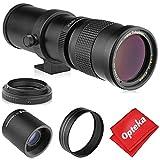 Opteka 420-800mm (w/ 2X- 840-1600mm) f/8.3 HD Telephoto Zoom Lens for Nikon DX FX F Mount Digital SLR Cameras