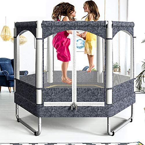 Fitness Trampoline Kids Baby Mini Rebounder Trampoline with Fence for Indoor Outdoor Exercise Jumper Max Load 150kg 5