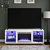 Ameriwood Home Lumina Fireplace TV Stand for TVs up to 70' (White)