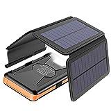 X-DRAGON Chargeur Solaire Powerbank 25000mAh Détachable Batterie Externe...