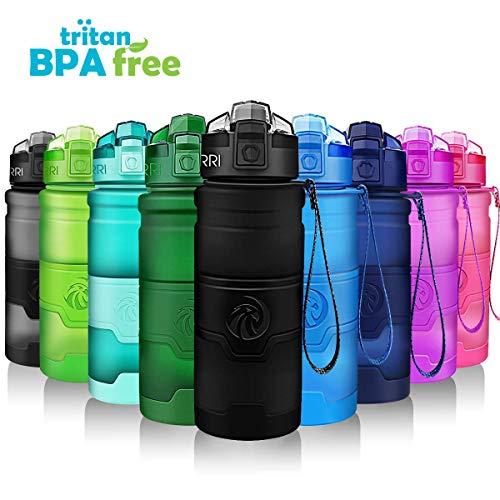 Sports Water Bottle, 400/500/700ml/1L, BPA Free Leak Proof...