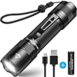 Rechargeable Flashlight, BYB F18 LED...