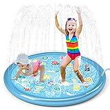Jasonwell Sprinkler for Kids Splash Pad Play Mat 60' Baby Wading Pool for Toddlers Summer Outdoor Water Toys Kids Sprinkler Pool for Boys Girls Children Numbers Learning Age 1 2 3 4 5 6 7 8