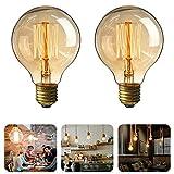 MTURE Ampoule Edison, E27 Lampe Décorative Ampoules à Incandescence Filament...