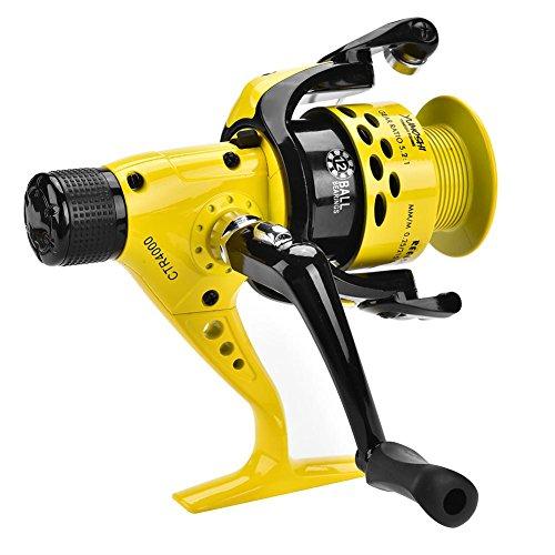 Ruota da Pesca con Mulinello Anticorrosione in Metallo Heavy Duty Leggera da Pesca con Mulinello da Spinning per Acqua Salata/Dolce(5000)
