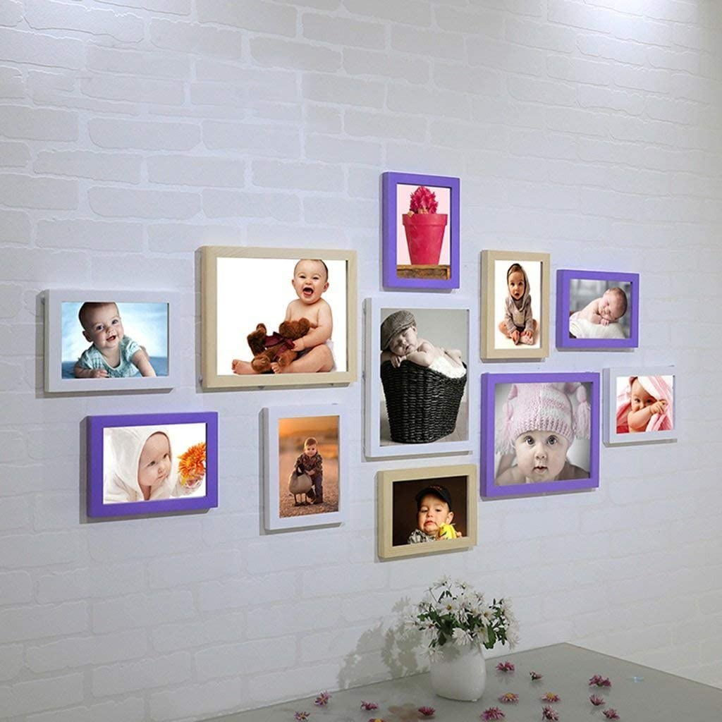 Photo Wall Frame Kids Art Wall Living Room A Wall Baby Room Photo Frame Wall Photo Album Wall Hanging Wall Combination Fashion Design Colour H E Amazon Co Uk Home Kitchen