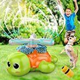 FOSUBOO Jouets Sprinkler, Jouet Arroseur Tortues Rotatives, PulvéRisation d'eau...