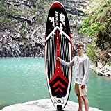 Homde Paddle Board 10' x 30'' x 6'' Inflatable Stand Up with SUP Accessories & Carry Bag | Bottom Fin for Paddling, Surf Control, Non-Slip Deck, Adjustable Paddle and Hand Pump