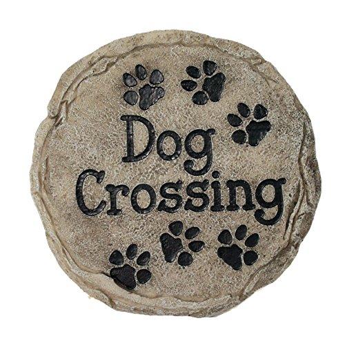 Spoontiques - Garden Décor - Dog Crossing Memorial Stepping Stone -...