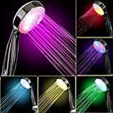 InteTech Pommeau de Douche LED 7 Couleurs, Multicolore, Ajustement Universel