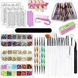 HEPAZ - Juego de diseño de decoración de uñas, 83 piezas de diamantes de imitación para decoración de uñas, decoración de ...