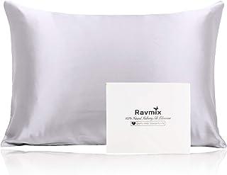 Ravmix 100% Pure Mulberry Silk Pillowcase for Hair and Skin with Hidden Zipper, Both..