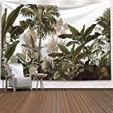 Tapiz de plantas tropicales hoja colgante de pared dormitorio tapiz arte...