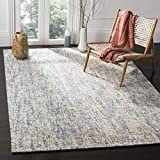Safavieh Abstract Collection ABT468C Handmade Wool Area Rug, 5' x 8', Dark Blue/Rust