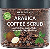 100% Natural Arabica Coffee Scrub with Organic Coffee, Coconut and...