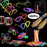 IREGRO Bâtons Lumineux et 460 pcs Accessoires, 20cm Multicolore Bracelets...
