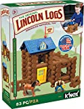 LINCOLN LOGS-Horseshoe Hill Station-83 Pieces-Real Wood Logs - Ages 3+ - Best Retro Building Gift Set for Boys/Girls – Creative Construction Engineering – Top Blocks Game Kit - Preschool Education Toy (Toy)