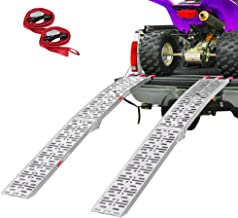 Clevr 7.5' Set of 2 Folding Arched Aluminum Truck Ramps for ATVs, UTVs, Motorcycles,..