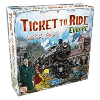 Days of Wonder | Ticket to Ride Europe Board Game | Ages 8+ | For 2 to 5 players | Average Playtime 30-60 Minutes