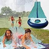 TEAM MAGNUS 31ft Water Slide - Central Sprinkler and XL Crash pad for...