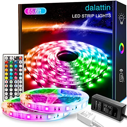 65.6ft Led Lights for Bedroom dalattin Led Strip Lights Color...