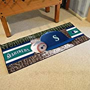 Vibrant team colors 30 inches x 72 inches 100 percent nylon face Non-skid recycled backing Machine washable