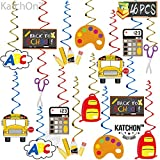 Back to School Decorations Hanging - Pack of 46 | Ceiling Hanging Classroom Decorations | Back To School Party | Paper School Bus Decoration | Colorful School Decorations For Teachers For Classroom