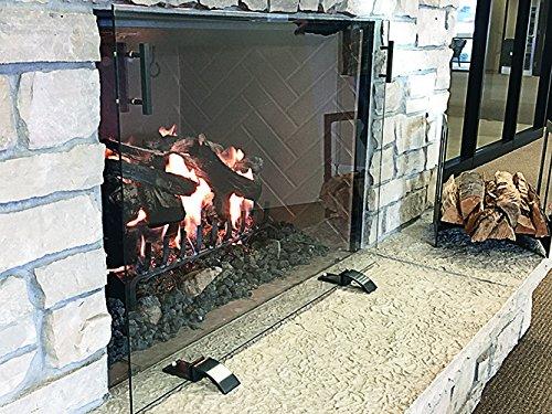 Design Specialties Glass Free-Standing Screen, GSFRSCN4129, Dark Pewter Handles and Feet, Medium
