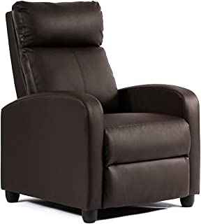 FDW Recliner Chair Single Reclining Sofa Leather Chair Home Theater Seating Living Room..