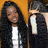 Glueless Deep Wave Wig Human Hair Frontal Wigs Pre Plucked with Baby Hair Brazilian Virgin Hair Deep Curly Lace Front Wigs 100% Human Hair Wigs for Black Women Human Hair Wet and Wavy Human Hair Wig