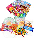 Easter Snack Gift Tin Basket - 29 COUNT - Easter Candy, Eggs, Easter Chocolates - Great Easter Care Package for Family, Friends, Kids, Coworkers (Misc.)