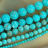 AD Perles en gros lisse pierres naturelles Perles rondes en vrac 38,1cm 4mm...