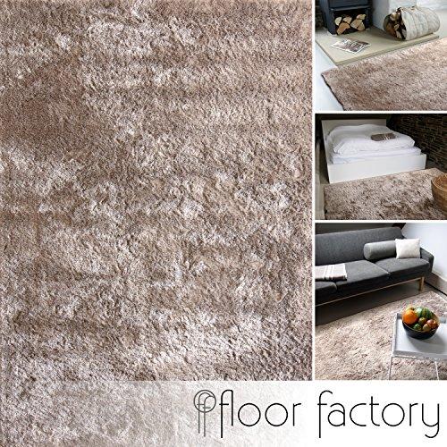 floor factory Tappeto Moderno Delight Taupe 140x200cm - Tappeto Esclusivo Morbido e serico