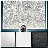 Coavas Privacy Window Film No Glue Static Film Heat Control Anti UV Crystal Pattern Film Glass Film for Living Room/Bedroom/Restroom/Bathroom/Kid's Room 17.7x78.7 inches