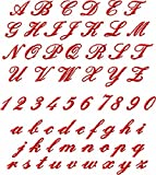ABC Machine Embroidery Designs Set - Miniature Script Embroidery Designs 62 Designs - Complete Alphabet in Two Sizes 4x4 Hoop - CD
