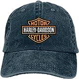 SBLB - Gorra ajustable con logotipo de Harley Davidson para mujer y hombre, color azul marino