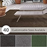 iCustomRug Affordable Indoor/Outdoor Carpet with Marine Backing, Many Carpet Flooring for Patio, Porch, Deck, Boat, Basement or Garage 12' X 10' in Brown