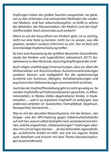 """Sabine Hinz Verlag Themenheft """"Impfen - Kritisch Hinterfragt"""" - Buch"""