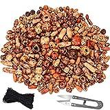 TecUnite 500 Pièces Perles en Bois Imprimées de Formes Variées...