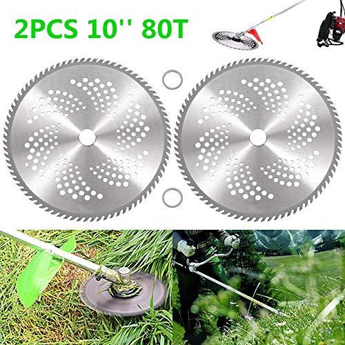 Yppss 2 Lame Pz 80T Carbide circolari 10' con Due Rondelle for decespugliatore Trimmer Weed Eater...