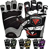 RDX Gants de Musculation Maya Hide Cuir Fitness Gym Entrainement Gloves...