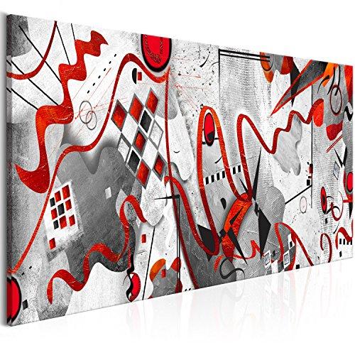 murando Quadro Astratto Come Wassily Kandinsky 150x50 cm Stampa su Tela in TNT XXL Immagini Moderni...