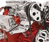 Billet Specialties 11221 Polished Sanden AC Compressor Bracket, Top Mount, SBC, Long Water Pump, Billet Specialties, Southwest Speed, SWS Auto Part # BSI-11221