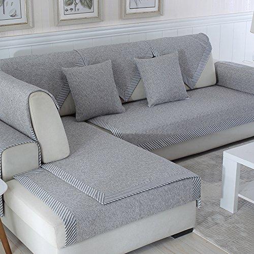 Ritaba Baumwolle Für Haustiere Couch Sofa Überwürfe, Anti-rutsch Übergroßen Spitze Couch Sofa Überwürfe Couch-Shield Sofaschoner Verkauft in stück-E 110x210cm(43x83inch)