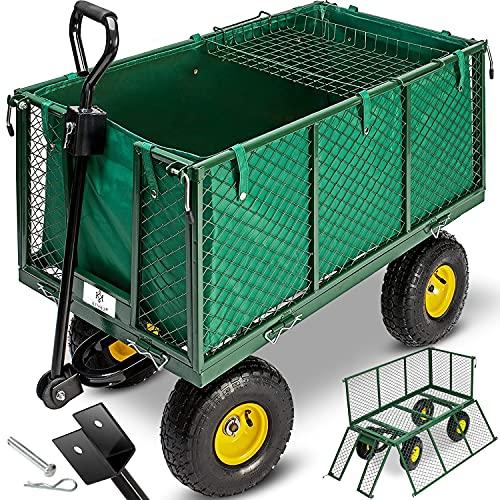 KESSER® Bollerwagen 550kg belastbar Gartenwagen...