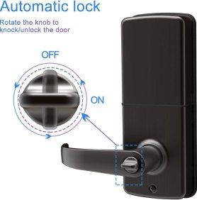 Keypad door lock for bedroom