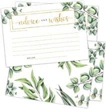 Set of 50 Advice and Wishes Cards – Double Sided Greenery Cards, Perfect for the..