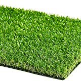 ZGR Artificial Garden Grass 3 ft x 5 ft (15 Square ft) Premium Lawn Turf, Realistic Fake Grass, Deluxe Synthetic Turf, Thick Pet Turf, Perfect for Carpet Doormat Indoor/Outdoor Landscape, Non Toxic