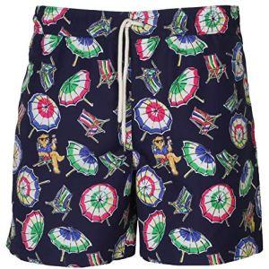 Polo RL Men's Printed Swim Umbrella Bear Boardshorts